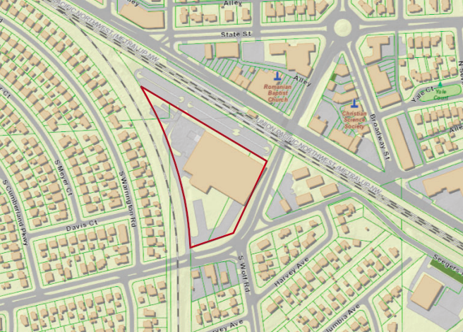 Map location for the proposed Cumberland Crossing development
